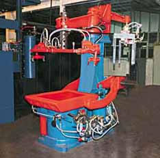 Savelli tight flask molding machine | flask molding equipment