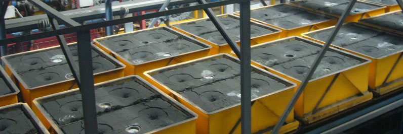 Flaskless molding mold cooling